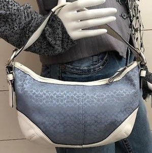 Authentic Coach Small Hobo Bag Baby Blue